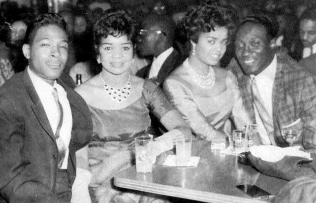 Marvin Gaye With First Wife Anna Gordy Gaye And Harvey Fuqua And