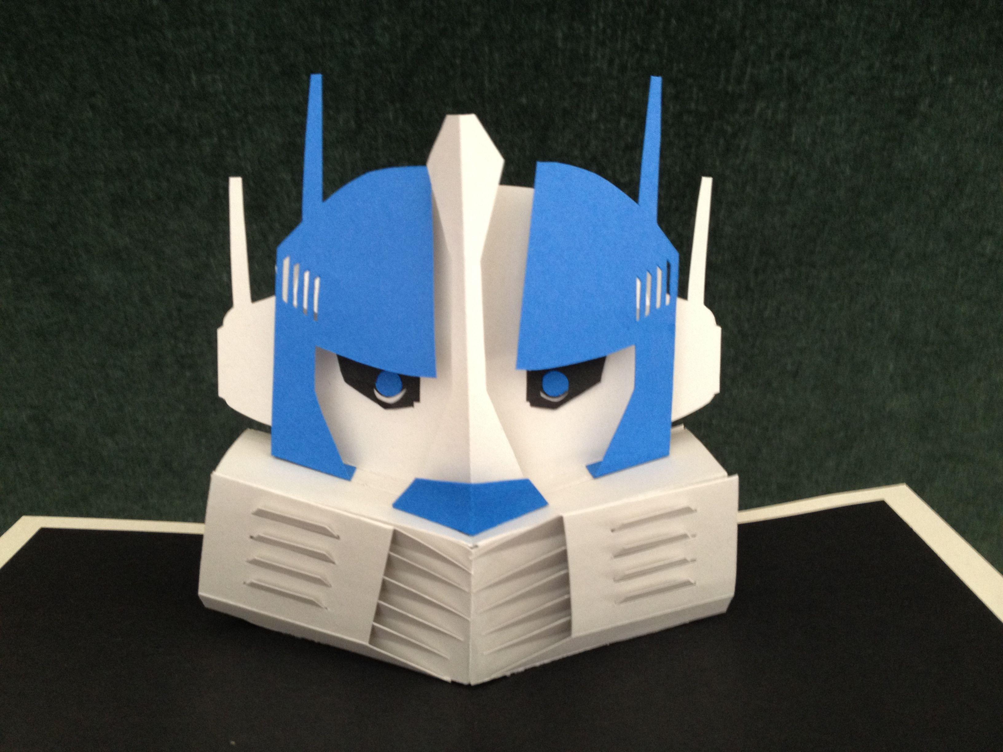 Optimus prime popup card
