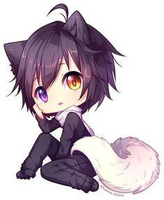 Kawaii Cute Anime Chibi Chibi Anime Neko