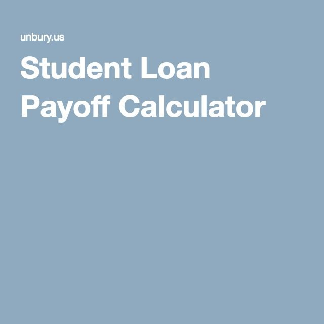 Student Loan Payoff Calculator Debt Payoff Pinterest
