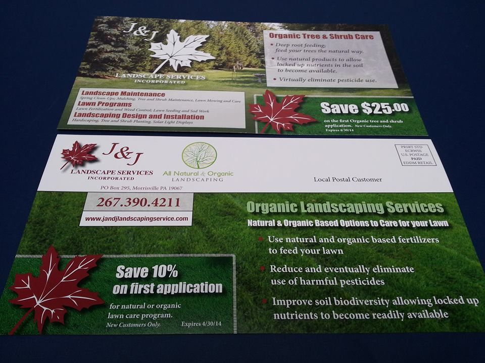 Eddm Success Story The First And Second Every Door Direct Mailers For J J Landscaping Were So Successful They Decided Shrub Care Landscape Services Landscape