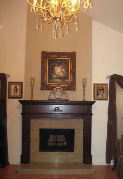 Fireplace before and after pics this is the shape of our room with do it yourself fireplace remodels solutioingenieria Image collections