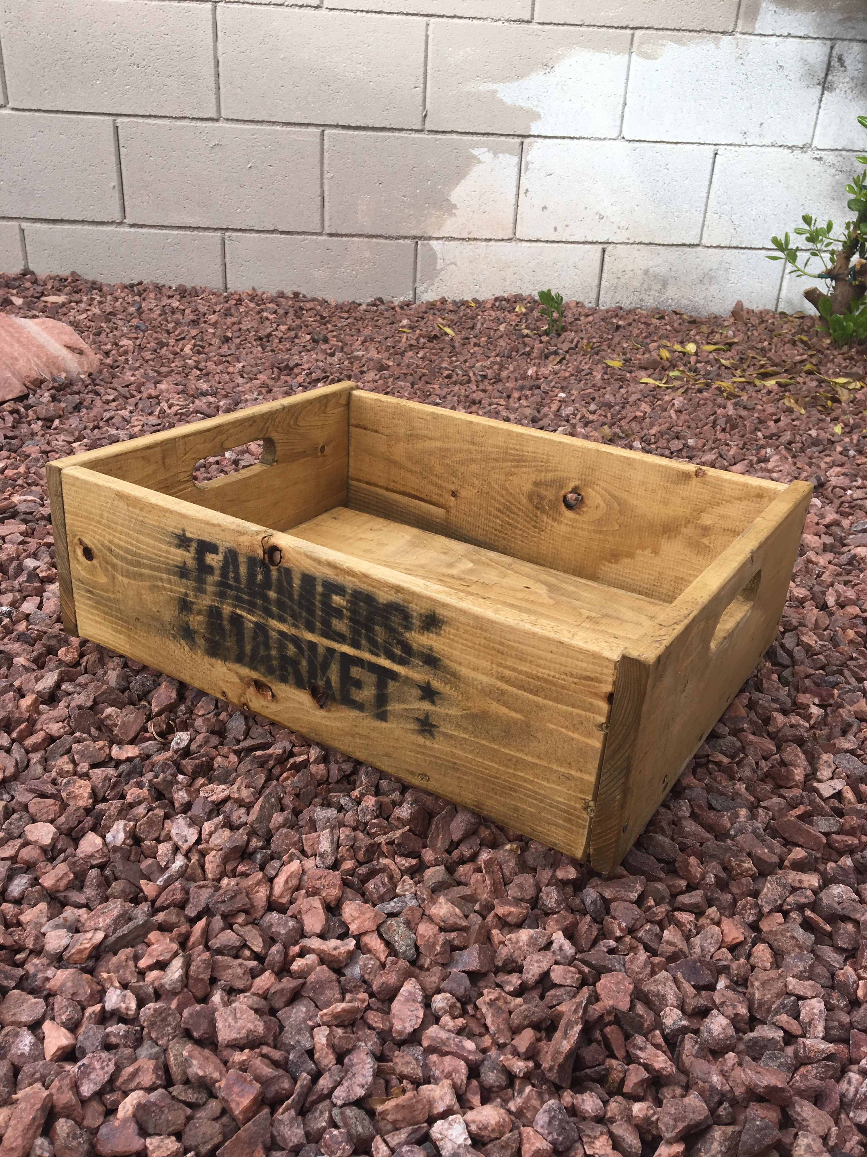 Made From Lid Pallets Farmers Market Vegetable Box