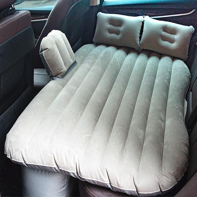 Multifunctional Car Mattress Air Bed Camping With Repair Pad Air Pump Two Pillows Grau Projekte