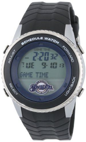 """Game Time Men's MLB-SW-MIL """"Schedule"""" Watch - Milwaukee Brewers"""