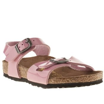 Birkenstock Pale Pink Rio Girls Toddler Her name is Rio and she dances in  the sand! This Birkenstock sandal is ready to take care of small feet on  holiday, ...