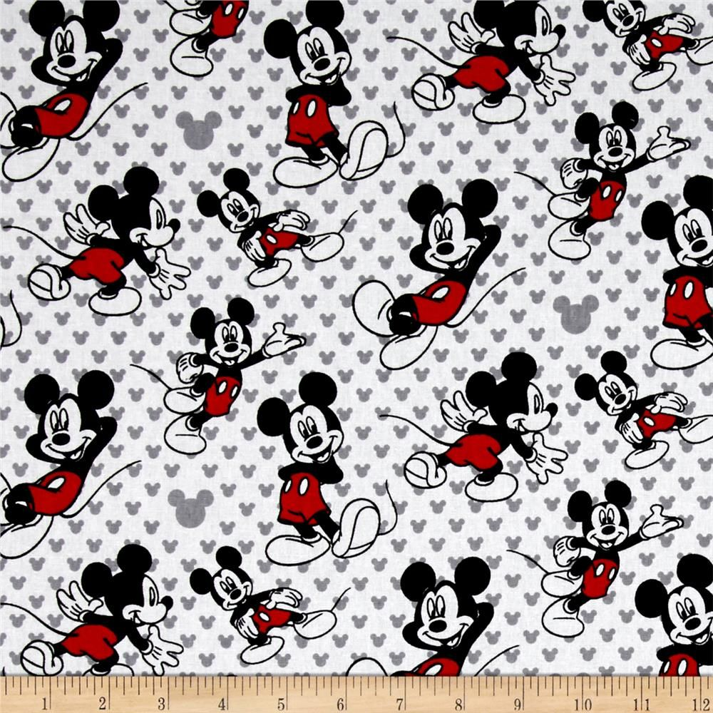 Licensed by Disney to Springs Creative Products, this cotton print is perfect for quilting, apparel and home décor accents. Colors include red, black, grey and white. This is a licensed fabric and not for commercial use.