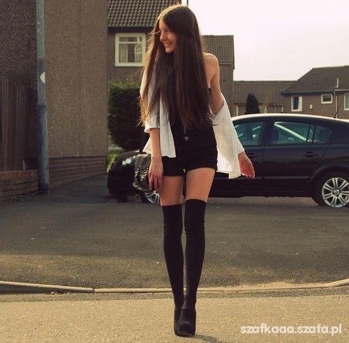 Zakolanowki Fashion Thigh High Tights Womens Tights