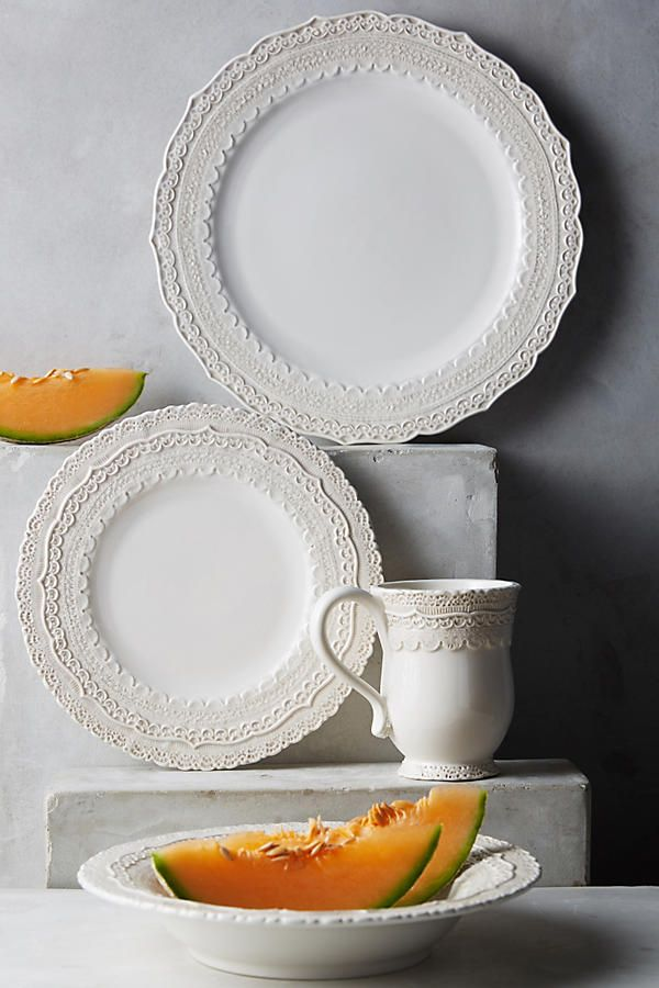 Slide View 2 Merletto Side Plate & Merletto Dinner Plate | Side plates Dinnerware and Kitchens