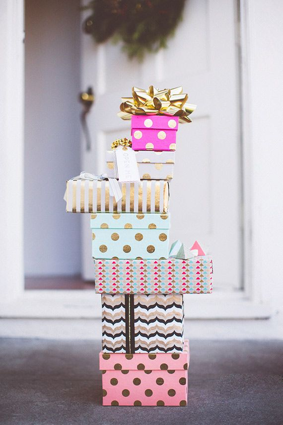 bridal shower poem for not wrapping gifts%0A Holiday gift wrap ideas   photo by Paige Jones       Layer Cake  Studio  Carta