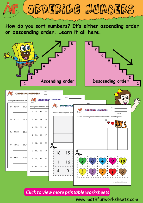 48+ Ascending and descending order worksheets Free Download