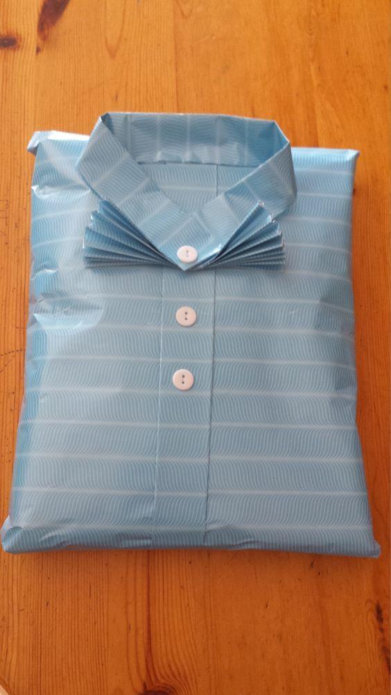 Geschenk für einen Mann verpacken (Meine Idee): | Diy gift wrapping, Gift wraping, Creative gift ...