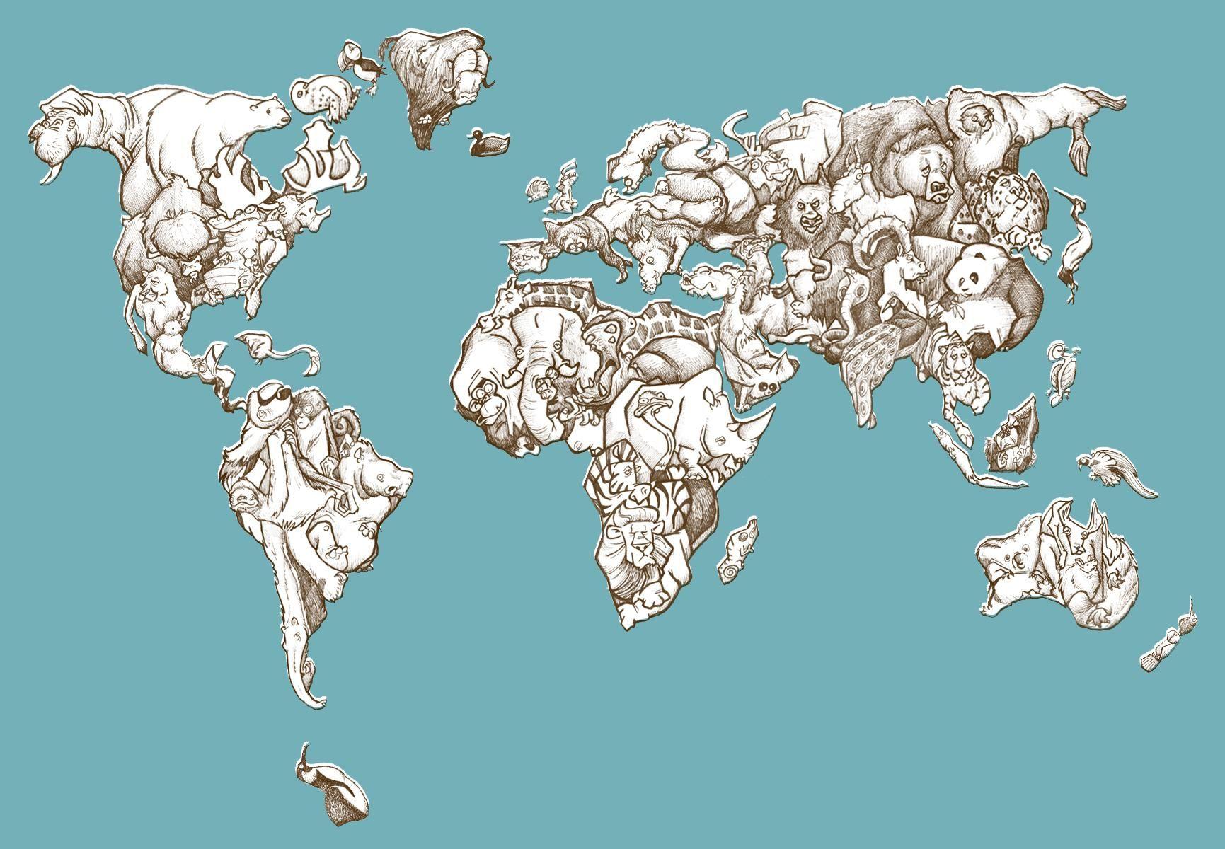 The animal world map animal the animal world map gumiabroncs Choice Image