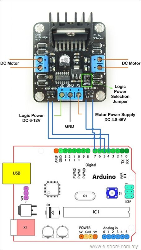 2a dual motor controller sample diagram
