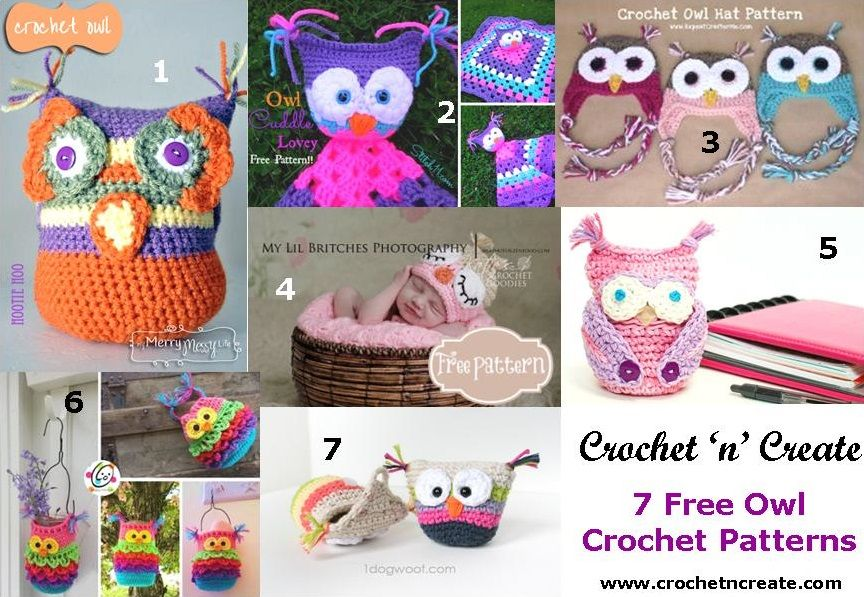 7 Free Owl Crochet Patterns | Pinterest