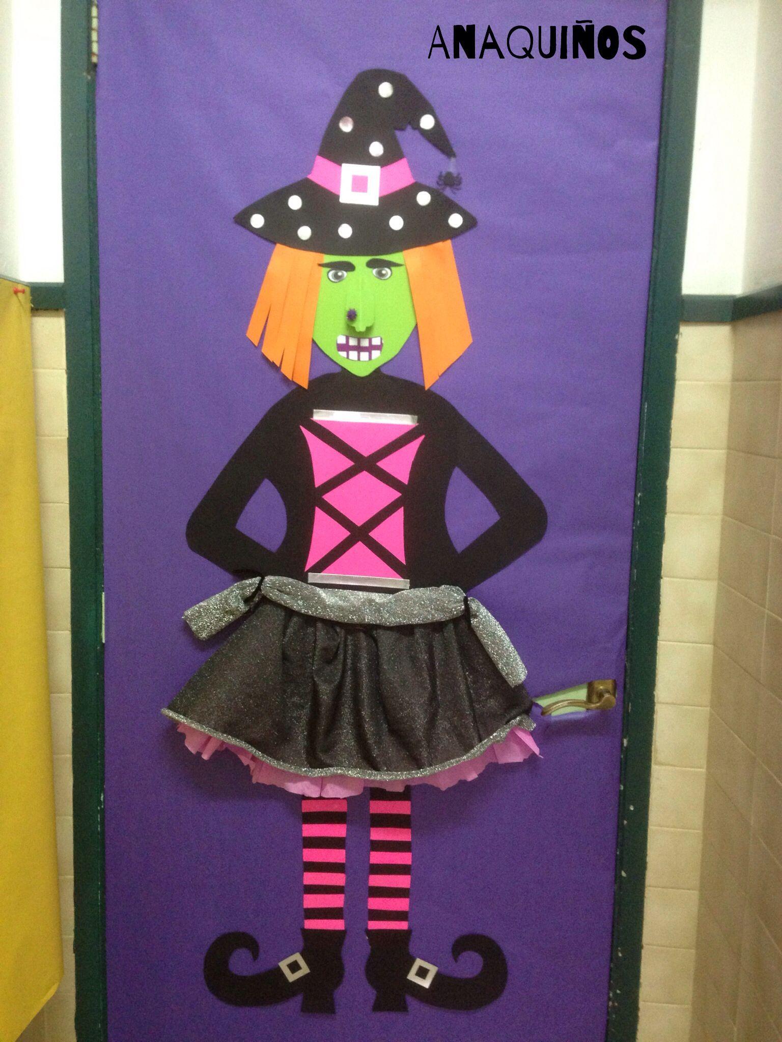 bruja puerta sanma n halloween decoraci n halloween y