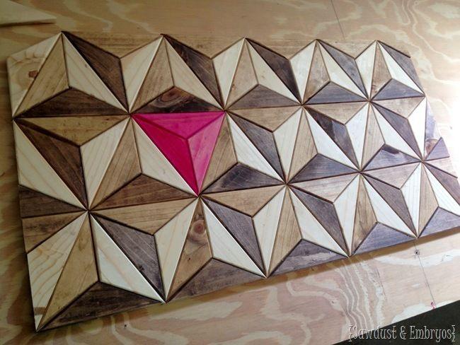 One Board Challenge 3d Geometric Wall Art Geometric Wall Art Geometric Art Wall Art Tutorial