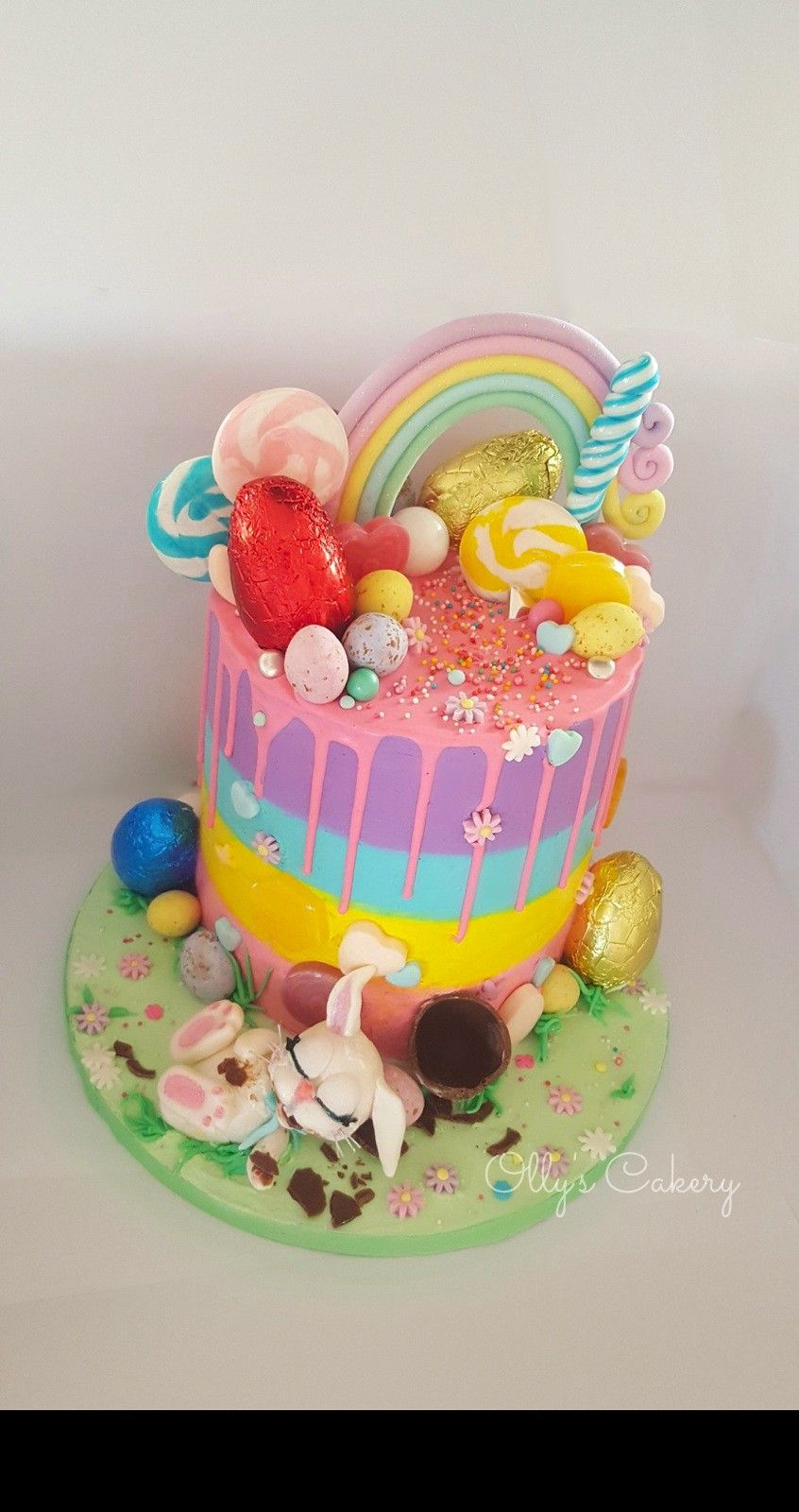 Easter Birthday Cake By Amber Hohepa Of Ollys Cakery Fat Bunny