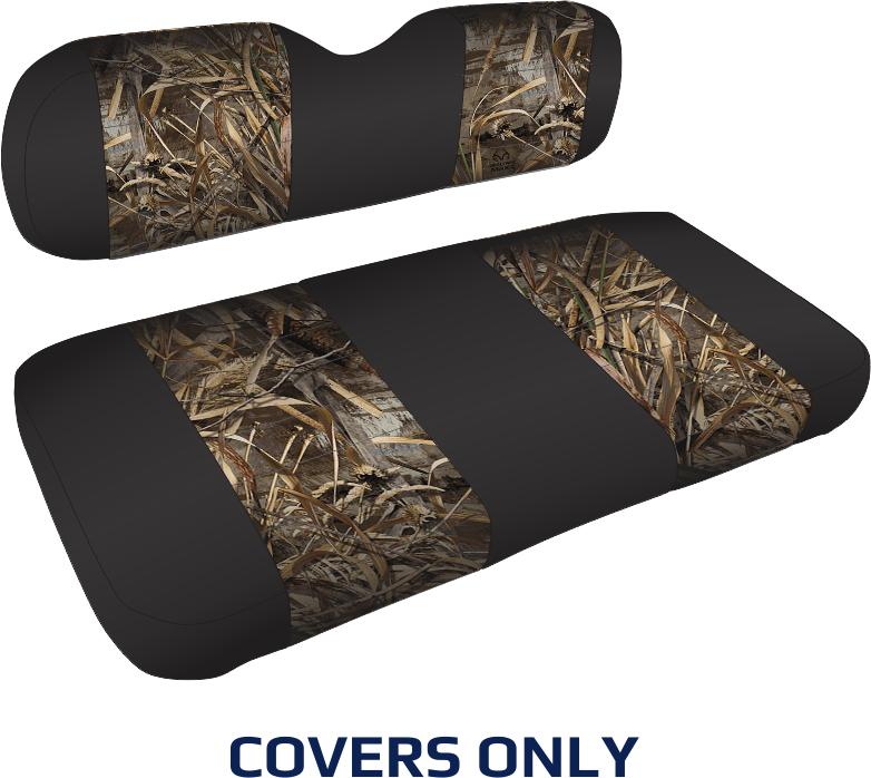 Ezgo Txt Golf Cart Seat Cover Set  Camouflage Sewn