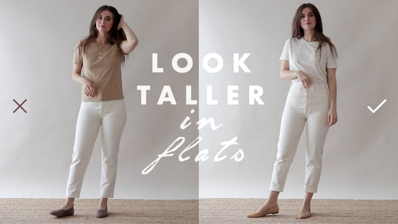 How To Look Taller Slimmer Petite Tips For Wearing Flats Dearly Be Petite Outfits How To Look Skinnier Petite Fashion