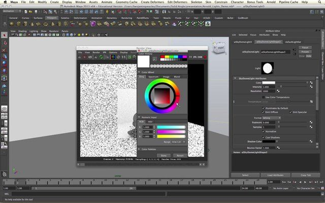 How to create image based lighting in maya