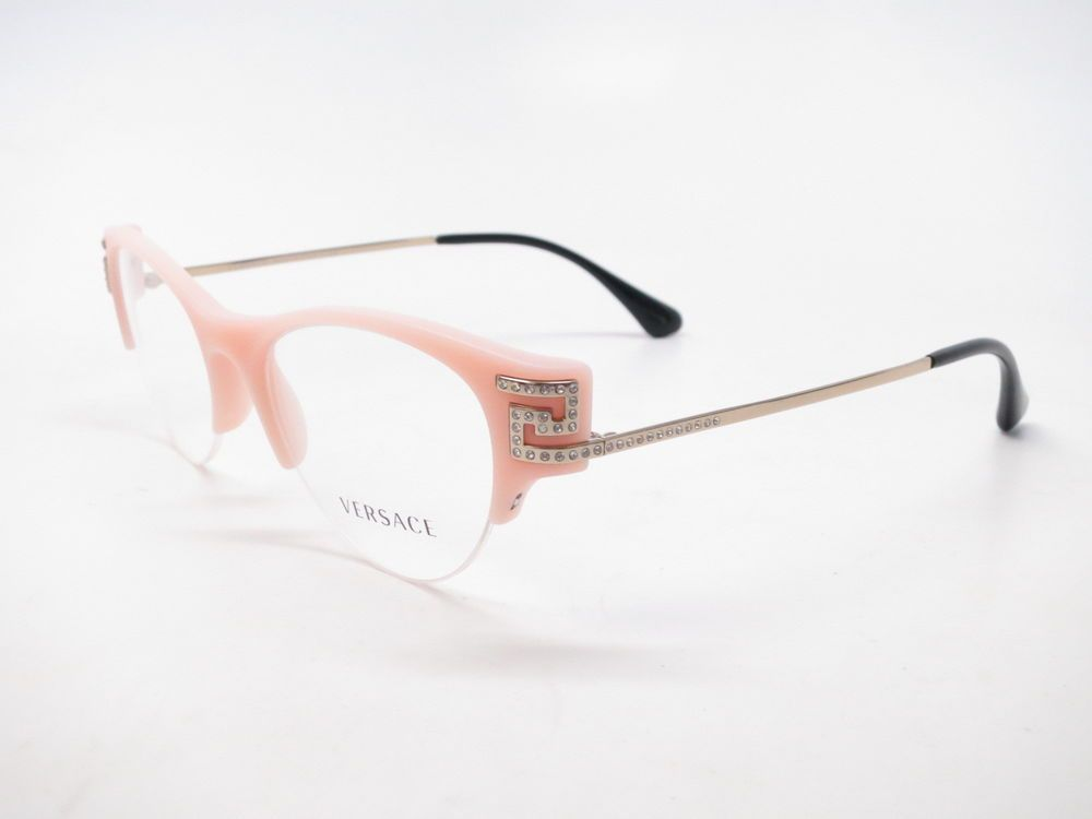 6e4184d370561 Brand   Versace Model Number   VE 3229-B Color Code   5186 Frame Color    Salmon Pink Gold Lens Color   Clear (A demo lens