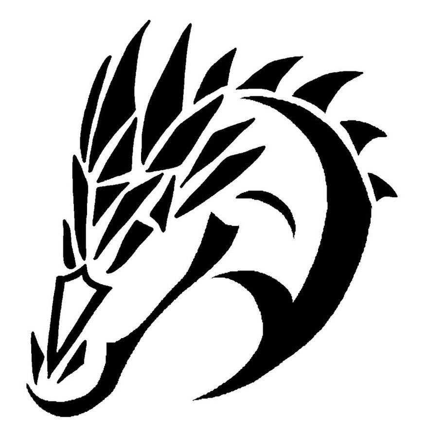 Dragon Drawings Black And White Cliparts Co Black And White Drawing Dragon Head Drawing Dragon Tattoo Drawing