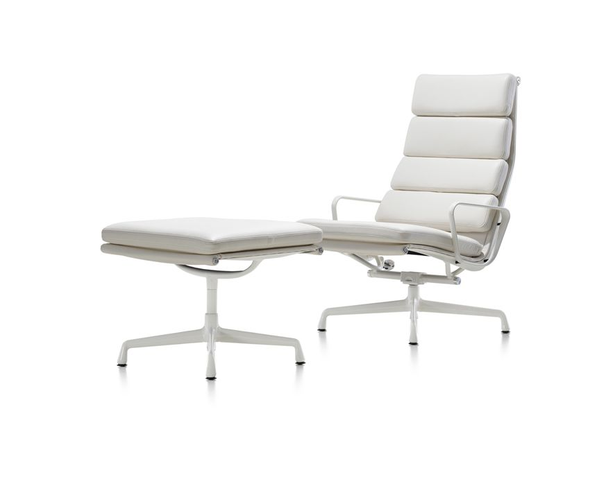 Espresso Leather Eames Soft Pad Executive Lounge Chair By Herman