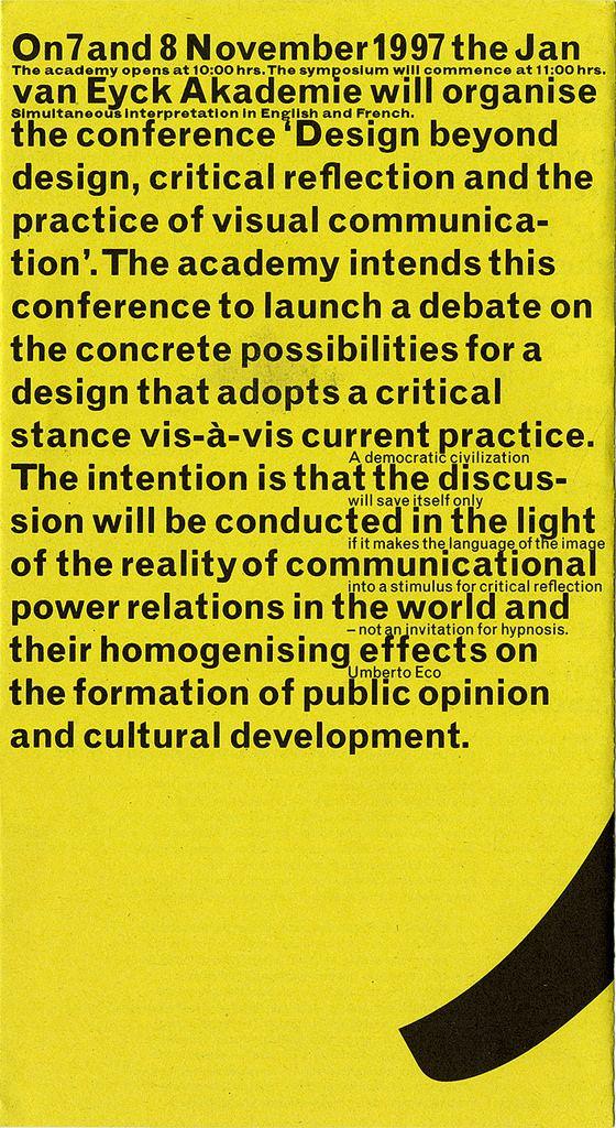 Jan Van Toorn Jve Design Beyond Design 1997 Typography