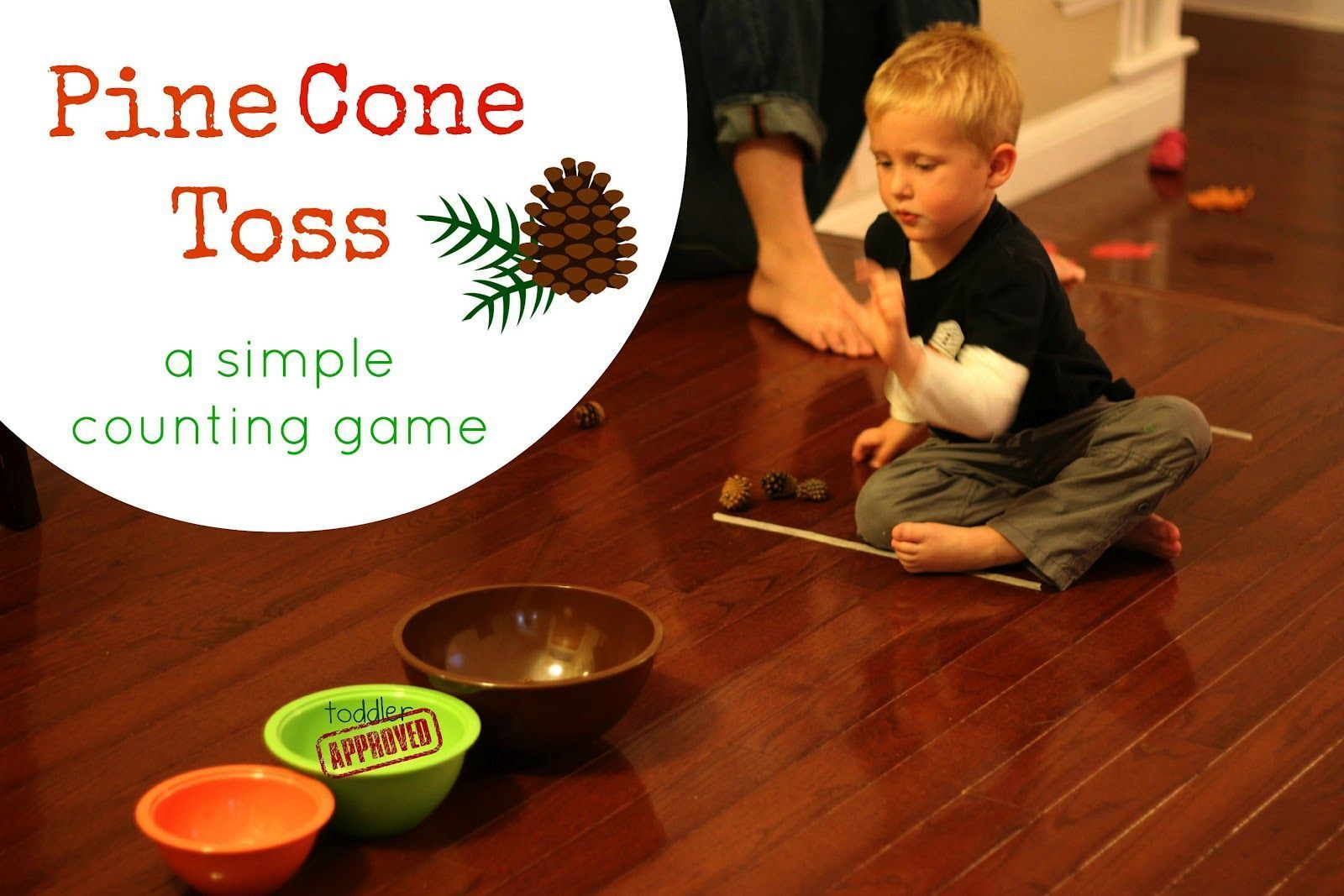 Cone Toss: A Simple Counting Game Toddler Approved!: Fall Pine Cone Toss: A Simple Counting Game. What are some other learning activities you like to do with pine cones?Toddler Approved!: Fall Pine Cone Toss: A Simple Counting Game. What are some other learning activities you like to do with pine cones?Pine Cone Toss: A Simple Counting Game Toddler Approved!: ...