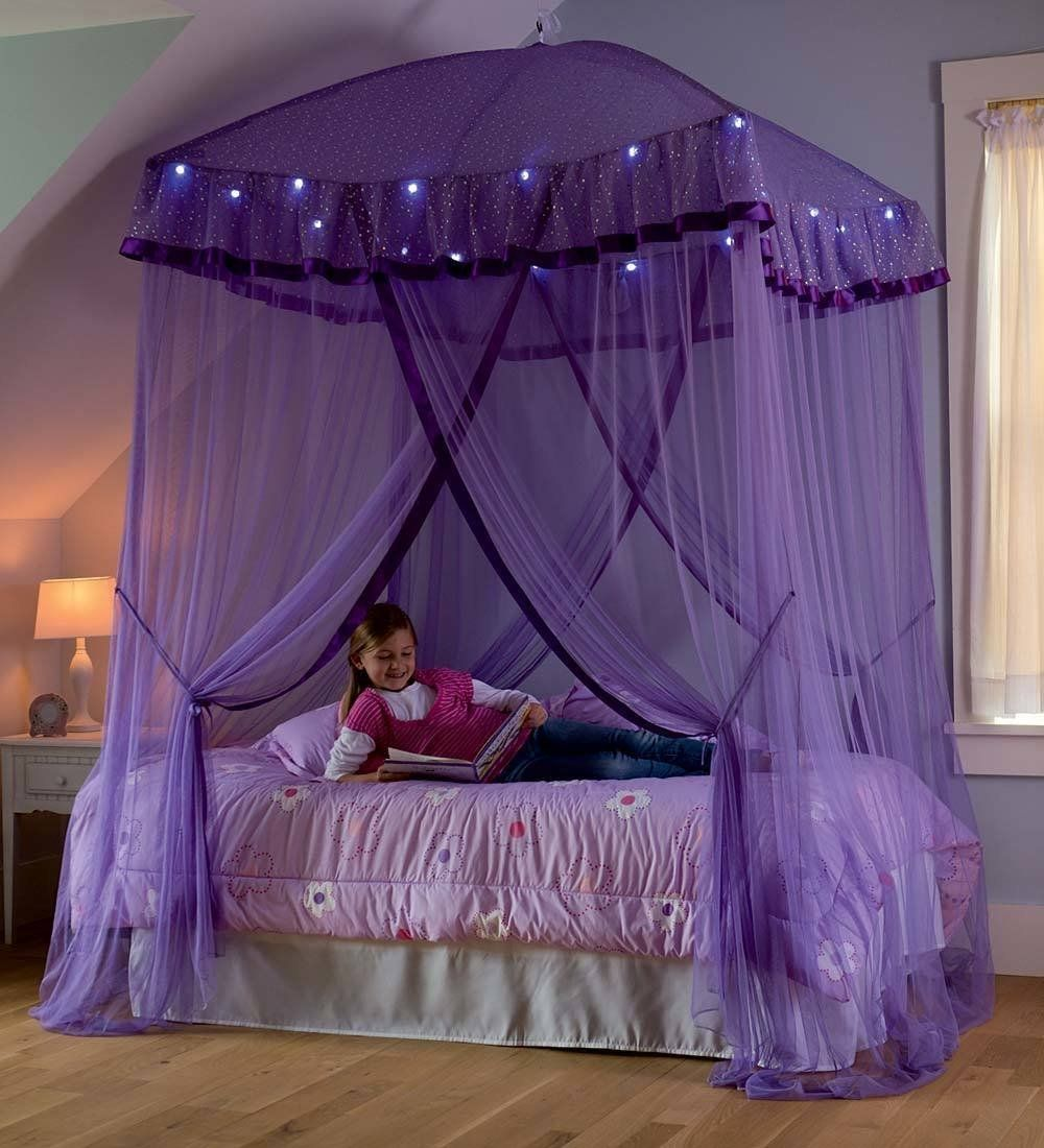 - Amazon.com: Sparkling Lights Lighted Canopy Bower, In Purple: Toys