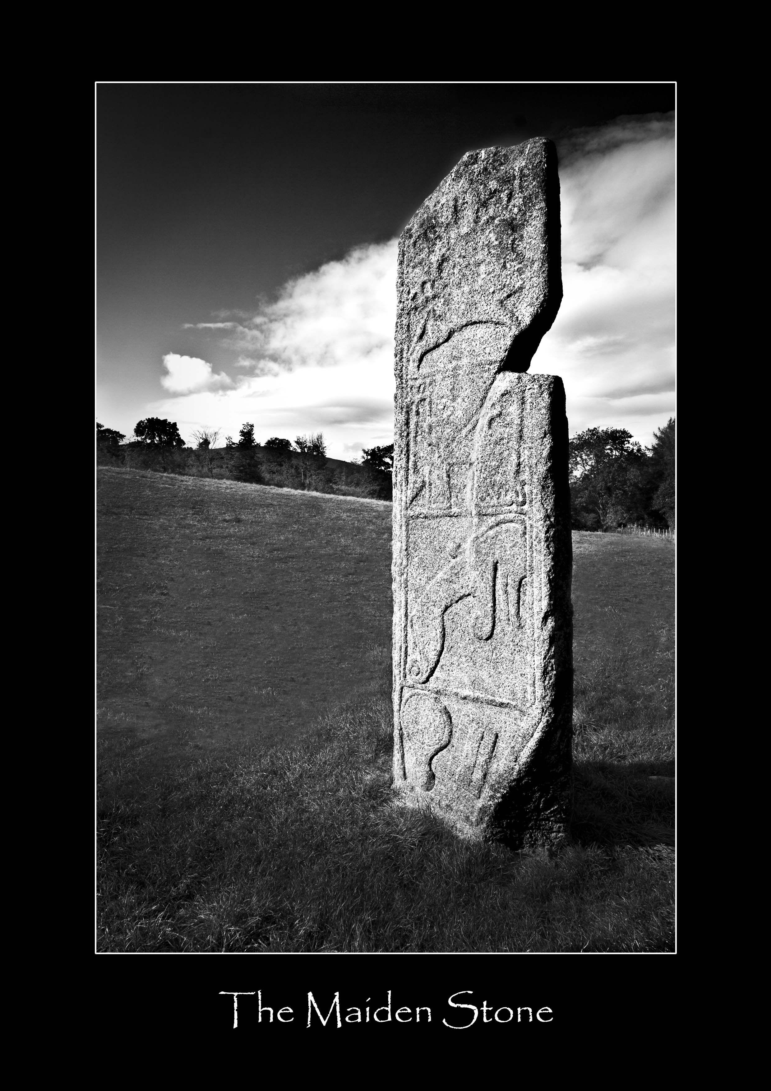 The Maiden Stone near Chapel of Garioch Aberdeenshire
