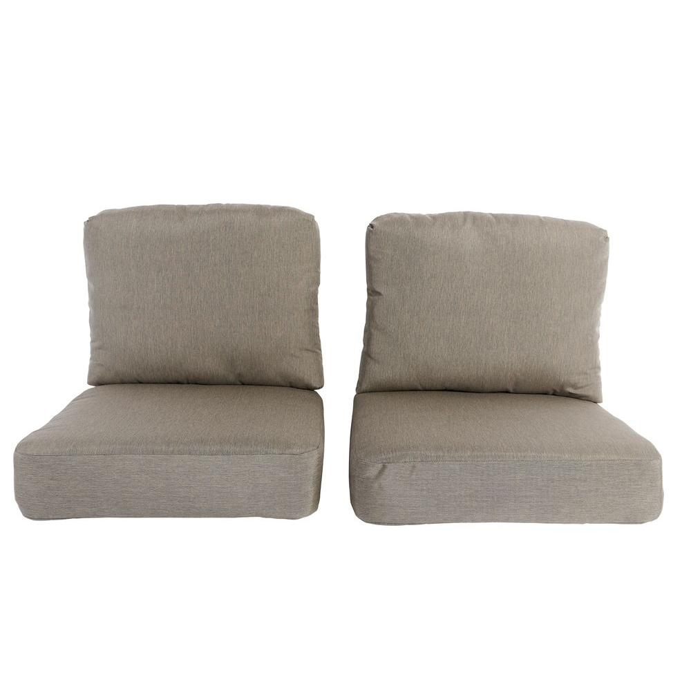 Hampton Bay Lynnfield Replacement Outdoor Chair Cushion 2 Pack