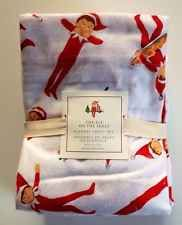 POTTERY BARN KIDS ELF ON THE SHELF TWIN FLANNEL SHEET SET NEW CHRISTMAS BEDDING
