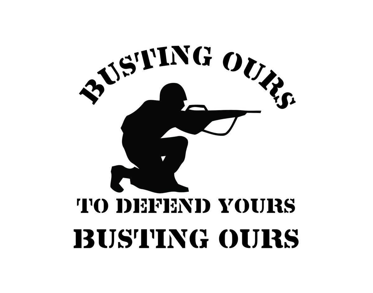 Busting Ours Soldier Sticker Soldier Custom Decals Us Soldiers [ 941 x 1200 Pixel ]