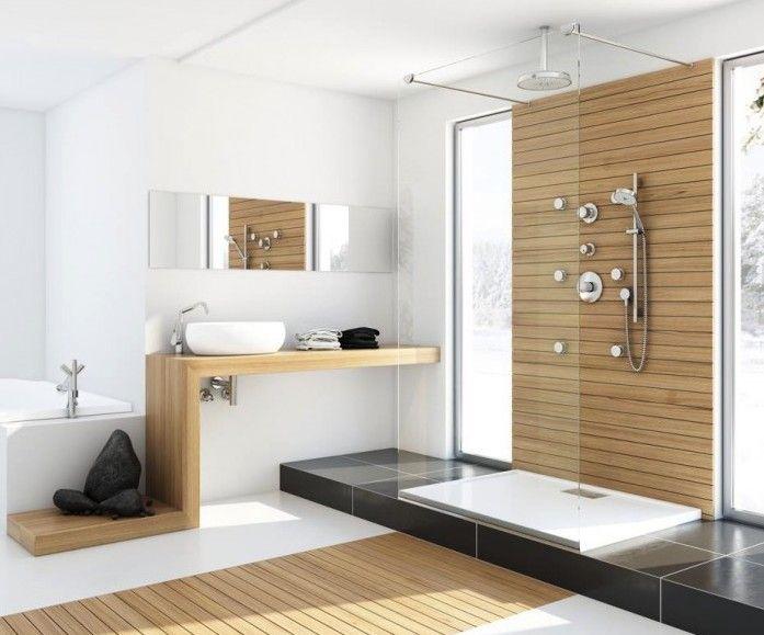 modernes badezimmer mit holz von Marcin Pajak Design - modernes badezimmer design