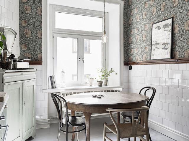 Azulejo biselado blanco  via MIBLOG cocina Pinterest Cocinas
