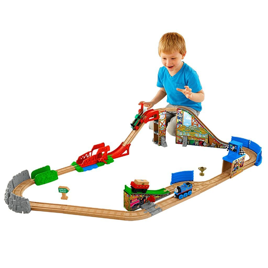 Thomas Wooden Railway Race Day Relay Set Dfw97 Thomas The