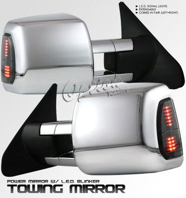 Toyota Tundra 2007 2018 Chrome Towing Mirrors Power Heated