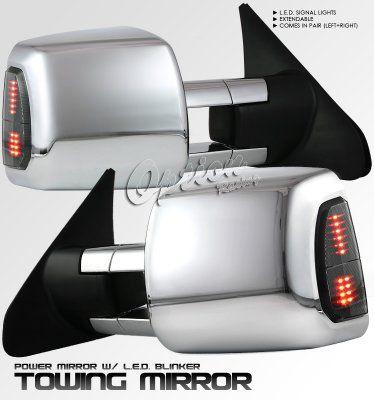Toyota Tundra 2007 2021 Chrome Towing Mirrors Power Heated Led Signal Lights Towing Mirrors Toyota Tundra Tundra