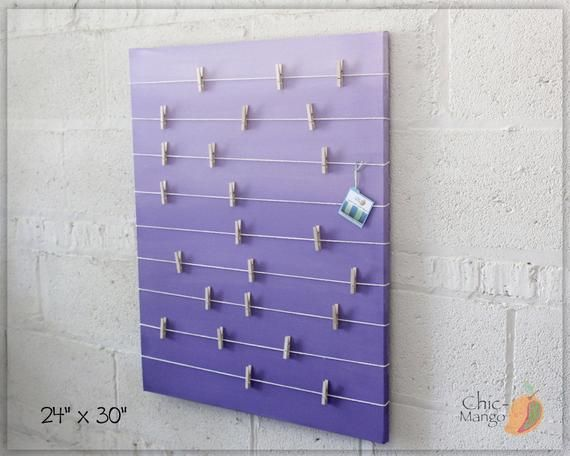 Bulletin Board , Memo Holder , Purple Ombre , Kids Room Decor , Teens Room Decor , Card Display , Office Bulletin Board, Girls room Wall Art -   16 room decor Purple blue ideas