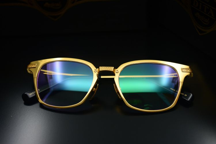 8f86c8c5f62 Free shipping New Dita eyeglass Dita UNION pure titanium 18K gold ...