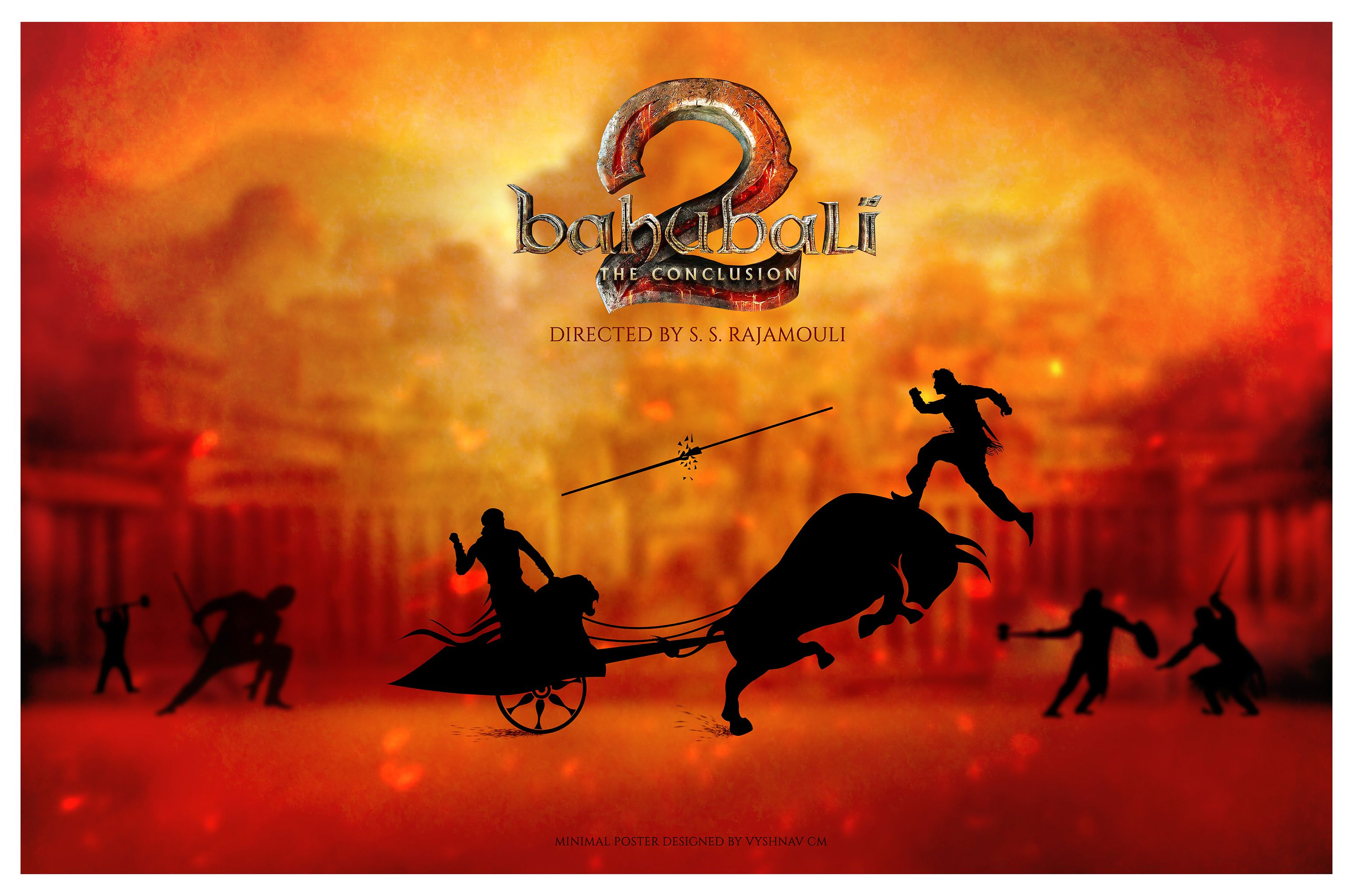 Baahubali 2 the conclusion minimal poster designed by - Bahubali 2 poster hd ...