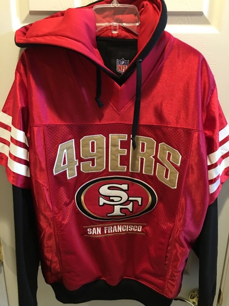 San Francisco 49ers Hoodie Jersey Sweater Officially Licensed from  for sale