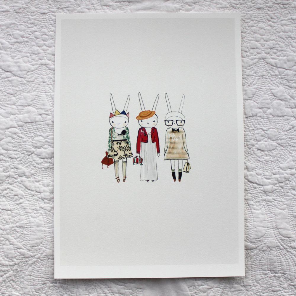 electric eclectic art print.