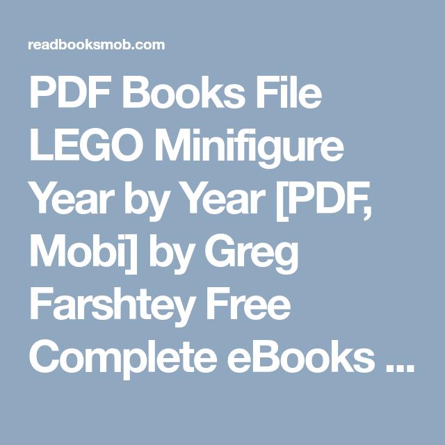 PDF Books File LEGO Minifigure Year by Year [PDF, Mobi] by Greg ...