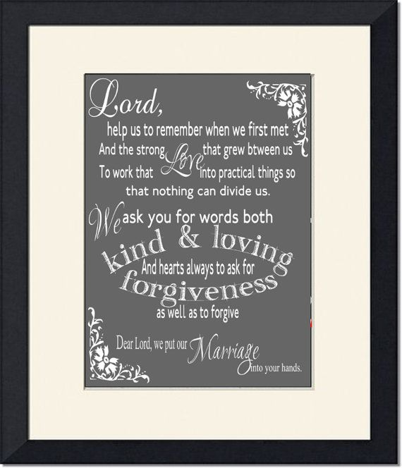 Bible Scripture Verse Marriage Prayer Typographic Art Download Printable Wedding Prayer