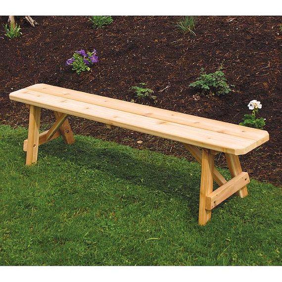 Red Cedar Traditional 4ft. Backless Bench | Cedro rojo, Cedros y Bancos