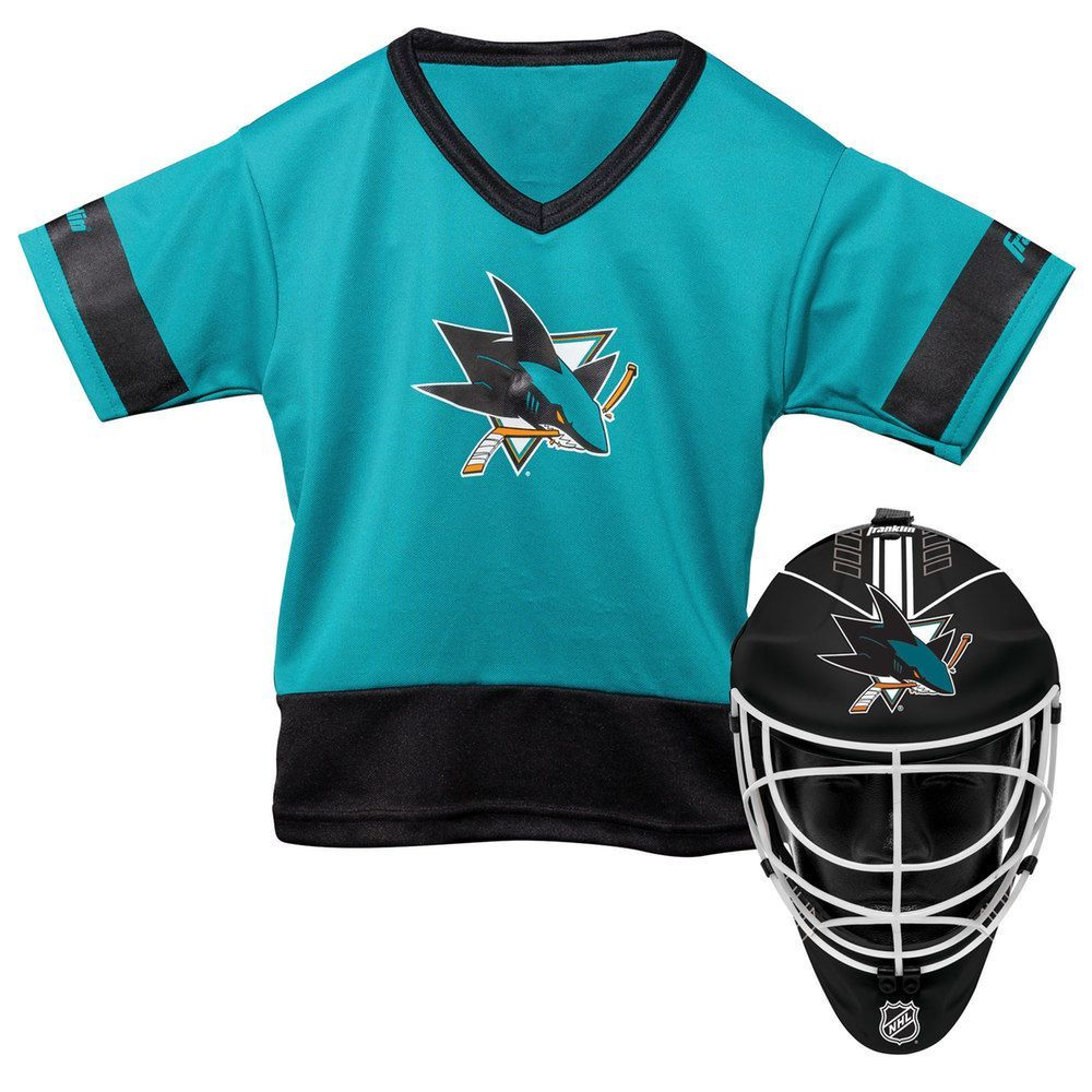 the latest 7c118 be180 Youth Franklin San Jose Sharks Goalie Face Mask & Jersey Set ...