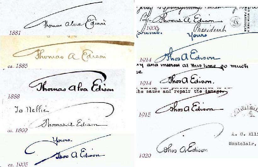 famous signatures - Thomas Edison | Grafologias ...